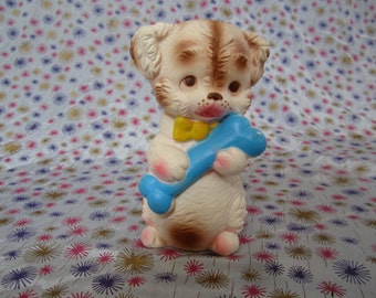 Edward Mobley, Puppy holding bone, 1954, Squeak toy. Playful Pets. Arrow rubber and plastics.