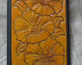 IPhone 6 Leather Case Flower Inlaid Cover