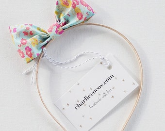 "Girls Liberty of London Hair Bow Headband ""Millie"" by Charlie Coco's"