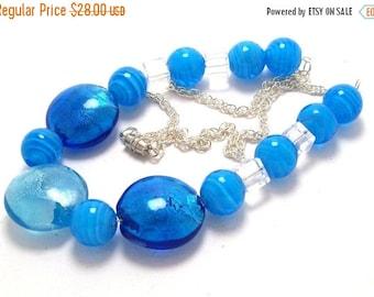 Closing Shop Caribbean Blue Necklace