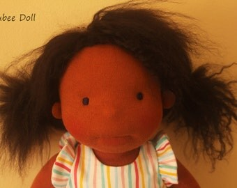 "Waldorf inspired doll called Joy , 14 "" tall"