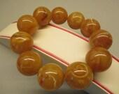 Amber Fashion Elegant Bracelet Fine 69.00 Gr Round Great Marble Color #134
