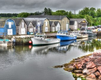 Boat photography, HDR, Rockport Harbor, High Dynamic Range