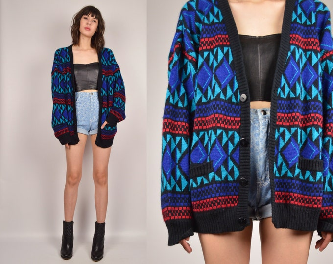 90's Chunky Sweater Cardigan Vintage