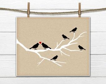 Family Tree Print - Bird print - Home Decor