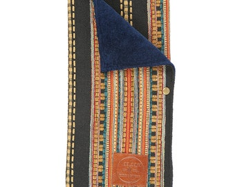 Changing Pad Ponderosa -Handmade Bohemian Fabric and Leather - diaper/baby/pouch