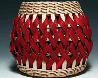 walnut/red Penland Pottery basket