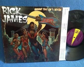 """RARE, Vintage, Rick James - """"Bustin' Out Of L Seven"""" Vinyl LP Record Album, Original 1st press, Classic Funk, Soul, High On Your Love Suite"""