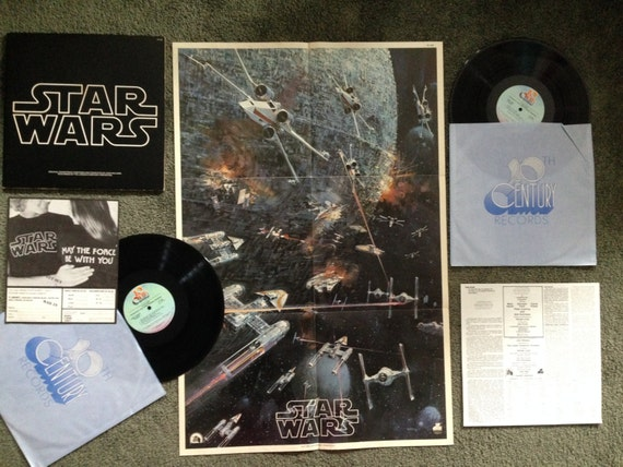 Rare Vintage Star Wars With Poster John Williams By