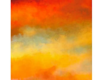 Beautiful Abstract Art Print Titled: Abstract Sunset