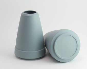 HTL 2060, Porcelain Vase, Contemporary ceramic, Minimal design, Gray Vase