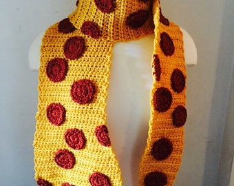 Pepperoni Pizza Food Scarf