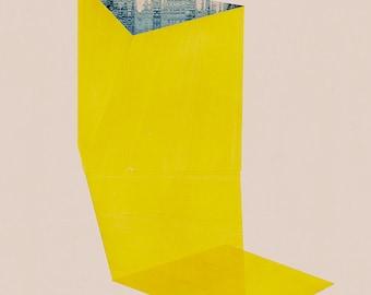 Abstract composition 653  - modern art - minimalism - 60 x 84 cm - A1 - Single original fine art print