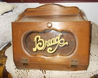 Vintage Wooden Country Store  Bread Box/Not Included in Coupon Discount