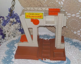 Fisher Price Lift and Loader Toy Little People Made in the USA 1978/Not Included in Coupon Sale :)S