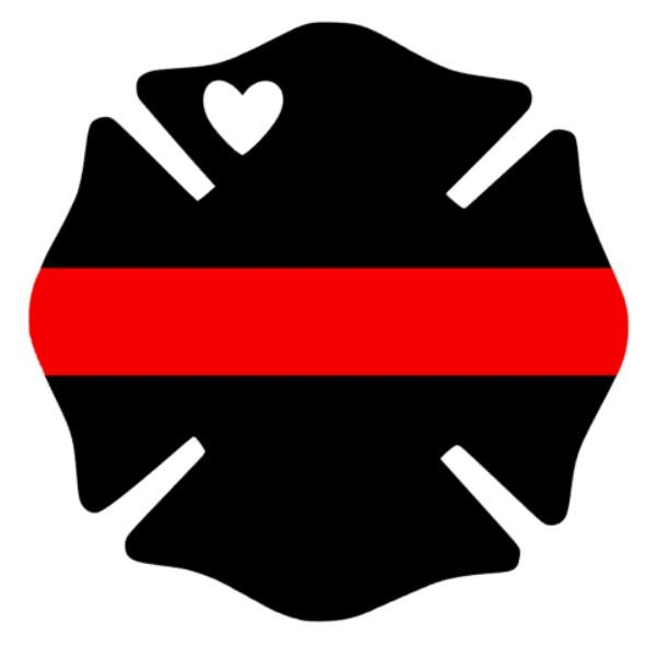 Line Drawing Maltese Cross : Firefighter vinyl decal thin red line car laptop