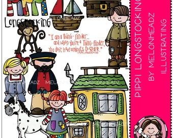 Pippi Longstocking clip art