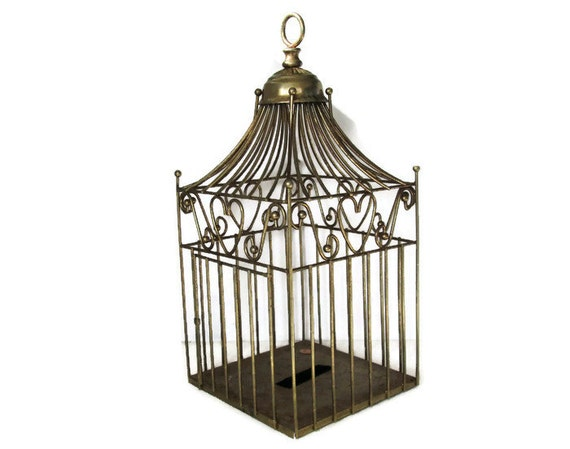 Vintage Metal Bird Cage Wrought Iron Birdcage Decorative