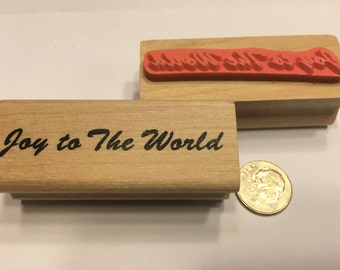 Joy to the World rubber stamp, 60 mm (BR120)