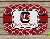 Design Your Own Personalized Melamine Platter, Monogrammed Platter, Tailgate, Wedding Gift,  Housewarming Gift, South Carolina, Gamecocks