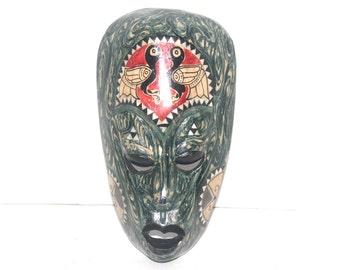 Vintage Indonesian Mask, Wall Mask, Tribal Mask,  Art, Carved Mask, Antique Alchemy