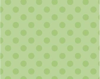 Tone on Tone Green Medium Dot Fabric by Riley Blake