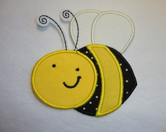 Bee Patch, Bumble Bee Patch, Honey Bee Patch, Yellow and Black Bee Iron On Patch