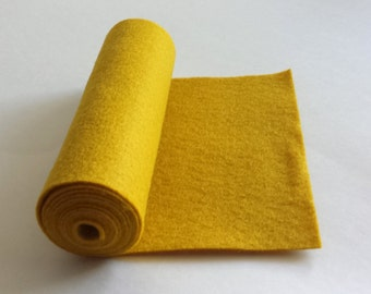 SALE 5x36 Old Gold Wool Blend Felt Roll