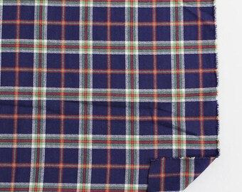 """Blue Plaid Cotton Fabric - 59"""" Wide - By the Yard 84169"""