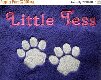 ON SALE Personalized Pet Blanket - All colors Large size- large size dog blanket - fleece dog blankets