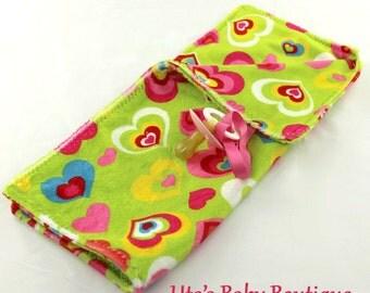 Baby Burp Cloth, Burp Cloth, Baby Accessory, Baby Gift, Baby Girl Gift, Baby Shower Gift, Handmade, Minky, Hearts