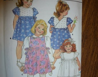 Vintage Butterick Pattern 3719 Toddler's/ Children's Dress and Jumper   Sizes 1-2-3