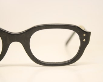 Vintage Eyeglasses  Small Black Unused New Old Stock 1980s Retro Eyeglass Frames