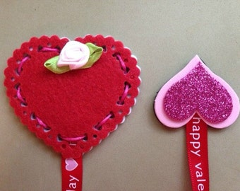 Red Heart Bookmark