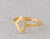 Gold ring, 24K gold plated\ silver plated ring, Christmas gift, light Geometric ring, cute and fresh.