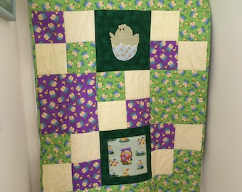 Easter Chick Applique Quilt