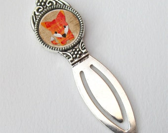Cute Bookmark, Book Lovers Gift, Fox Bookmark, Bookworms