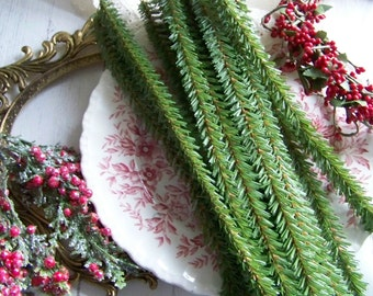 Faux Pine Stems, Holiday Pine, Holiday Greenery, Greenery, Holiday Home, Christmas Greenery, Christmas Pine, Country Greenery, Decorations
