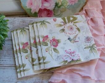 Floral Paper Napkins, Decoupage Napkins, Decoupage Supplies, Napkins, Paper Supplies, Floral Decoupage, Decoupage Roses, Shabby Style