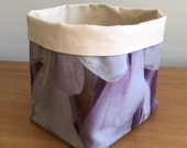 SALE! Purple small soft fabric basket fabric bucket storage bin storage Handmade storage bin Fabric container Diaper basket Cosmetic basket