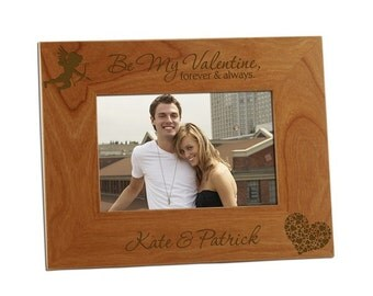 Engraved Be My Valentine Wooden Photo Frame