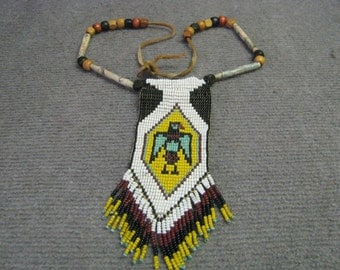 Thunderbird Native American Indian Style Beaded Necklace