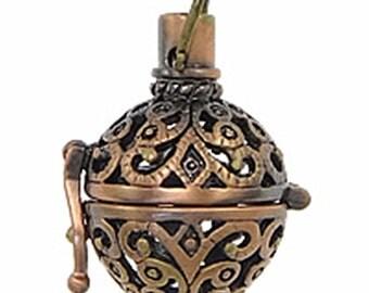 2PC fancy antique copper finish metal prayer  pendant-5901G