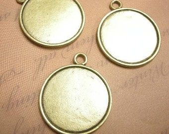 4pc metal cabochon setting in original color-5940