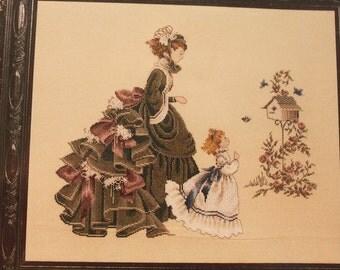 Lavender & Lace Victorian Design Cross Stitch Chart - Little Wings