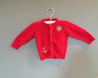Nautical baby sweater