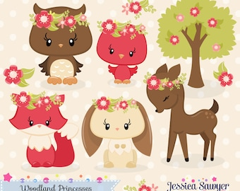 INSTANT DOWNLOAD, fall woodland clipart and vectors for personal and commercial use