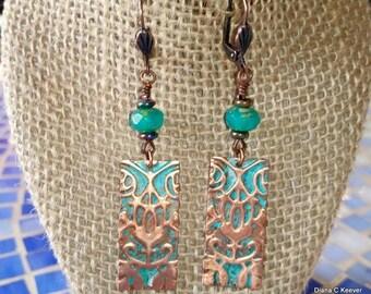 Copper Nouveau Earrings