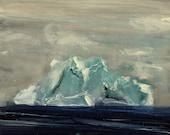 Iceberg Snow Storm- Original Acrylic Painting