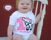 Cow Shirt, Cow Birthday, Farm Bib, First Birthday Bib, Cake Smash, Birthday Shirt, Girl Birthday, First Birthday
